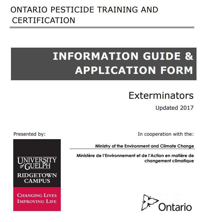 Information guide cover page